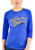 St Louis Blues Womens 2019 Stanley Cup Champions T-Shirt - Blue