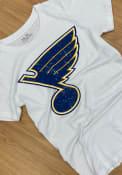 St Louis Blues Womens Triblend Crew Neck T-Shirt - White