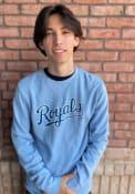 Kansas City Royals Alt Wordmark Fashion Sweatshirt - Light Blue