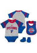 Detroit Pistons Baby White Little Player Set