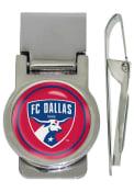 FC Dallas Silver Plated Money Clip - Silver