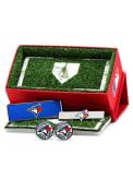 Toronto Blue Jays 3 Piece Cufflinks - Silver