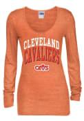 Cleveland Cavaliers Womens Orange Scoop Women's Scoop