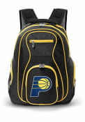 Indiana Pacers 19 Laptop Yellow Trim Backpack - Black