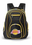 Los Angeles Lakers 19 Laptop Yellow Trim Backpack - Black