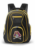 East Carolina Pirates 19 Laptop Yellow Trim Backpack - Black