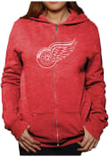 Original Retro Brand Detroit Red Wings Womens Red Triblend Full Zip Jacket
