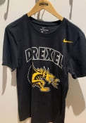 Nike Drexel Dragons Black Arch Mascot Tee
