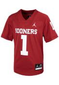Oklahoma Sooners Toddler Nike Sideline Replica Football Jersey - Cardinal