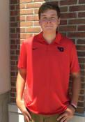 Nike Dayton Flyers Red Dry Stripe Short Sleeve Polo Shirt