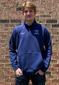 Nike Xavier Musketeers Navy Blue Club Fleece 1/4 Zip Pullover