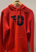 Dayton Flyers Nike Club Hooded Sweatshirt - Red