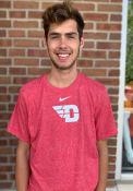 Dayton Flyers Nike Marled T Shirt - Red