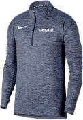 Dayton Flyers Nike Heather Element 1/4 Zip Pullover - Navy Blue