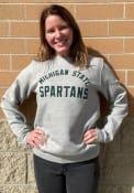 Michigan State Spartans Nike Club Fleece Crew Sweatshirt - Grey