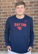 Dayton Flyers Nike Dri-FIT Flat Mascot T Shirt - Navy Blue