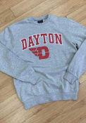 Dayton Flyers Nike Club Fleece Crew Sweatshirt - Grey