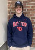 Dayton Flyers Nike Club Fleece Hooded Sweatshirt - Navy Blue