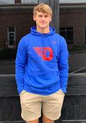 Dayton Flyers Nike Club Fleece Hooded Sweatshirt - Blue