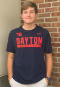 Dayton Flyers Nike Dri-FIT Basketball T Shirt - Navy Blue