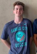 KC NWSL Nike Team Logo T Shirt - Navy Blue