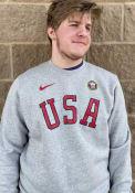 Team USA Nike Block Crew Sweatshirt - Grey