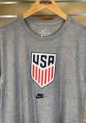 Team USA Nike Crest Fashion T Shirt - Grey