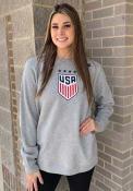Team USA Nike Crest Crew Sweatshirt - Grey