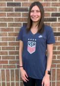 Team USA Womens Nike Crest T-Shirt - Navy Blue