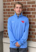 Dayton Flyers Nike Training 1/4 Zip Pullover - Light Blue