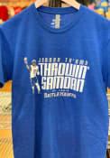 St Louis Battlehawks BreakingT Throwin Samoan Fashion T Shirt - Blue