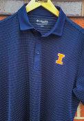 Illinois Fighting Illini Columbia Sunday Polo Shirt - Navy Blue