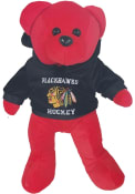 Chicago Blackhawks Plush Hoodie Bear Plush