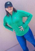 Dallas Stars Womens Levelwear Pacer Aztext Script 1/4 Zip - Green