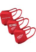 Levelwear Detroit Red Wings Guard 3pk Fan Mask - Red