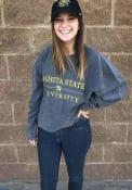 Wichita State Shockers Womens Corded Crew Sweatshirt - Charcoal