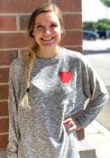 Ohio Womens Grey Cozy Fleece Long Sleeve T Shirt