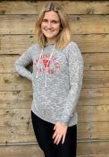 Dayton Flyers Womens Cozy Hooded Sweatshirt - Grey
