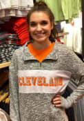 Cleveland Womens Cozy Quarter Zip Grey 1/4 Zip Pullover