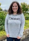 Cincinnati Women's Heather Grey Tunic Long Sleeve Lightweight Hood