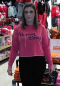Dayton Flyers Womens Campus Cropped Hooded Sweatshirt - Cardinal