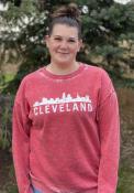 Cleveland Womens Campus Crew Crew Sweatshirt - Red