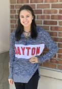 Dayton Flyers Womens Cozy 1/4 Zip Pullover - Navy Blue