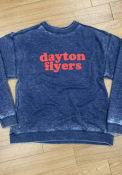 Dayton Flyers Womens Campus Crew Sweatshirt - Navy Blue