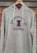 Illinois Fighting Illini Womens Cozy Tunic Hooded Sweatshirt - Grey