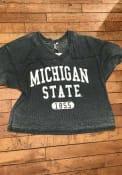 Michigan State Spartans Womens Waffle Jersey T-Shirt - Green