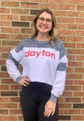 Dayton Flyers Womens Cozy Colorblock T-Shirt - White
