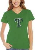 Texas Rangers Womens Green St. Patricks Day T-Shirt