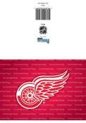 Detroit Red Wings Blank Card