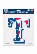 Texas Rangers 8x8 Patriotic Auto Decal - Blue